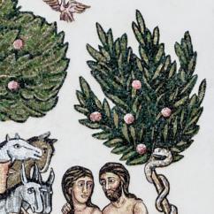 Alle spalle di Adamo ed Eva l'Albero del bene e del male