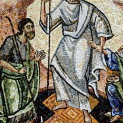 Cristo con il legno della Croce discende agli Inferi come un vittorioso condottiero