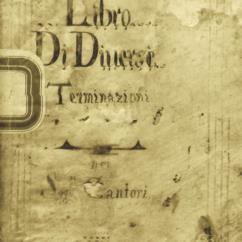 Libro delle diverse Terminazioni dei Sgg.ri Cantori