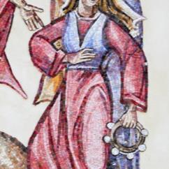 Miriam, sorella di Mosè, esulta di gioia e ringrazia Dio per la sconfitta dei persecutori