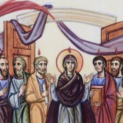 Nel cenacolo a porte spalancate Maria e gli undici apostoli
